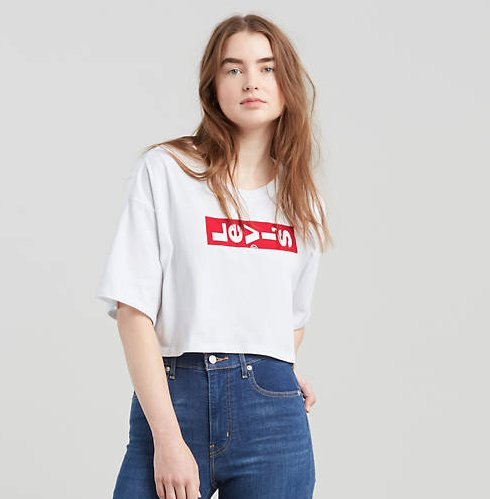 Levi's Levi's Graphic Crop Slacker Tee Shirt