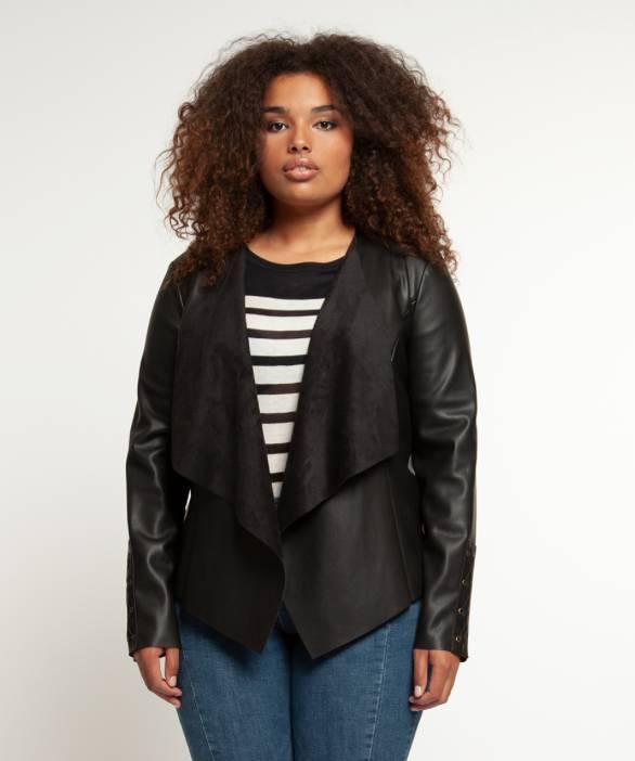 Dex Dex + Faux Leather Jacket