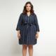 Dex Dex Plus Stripe Dress
