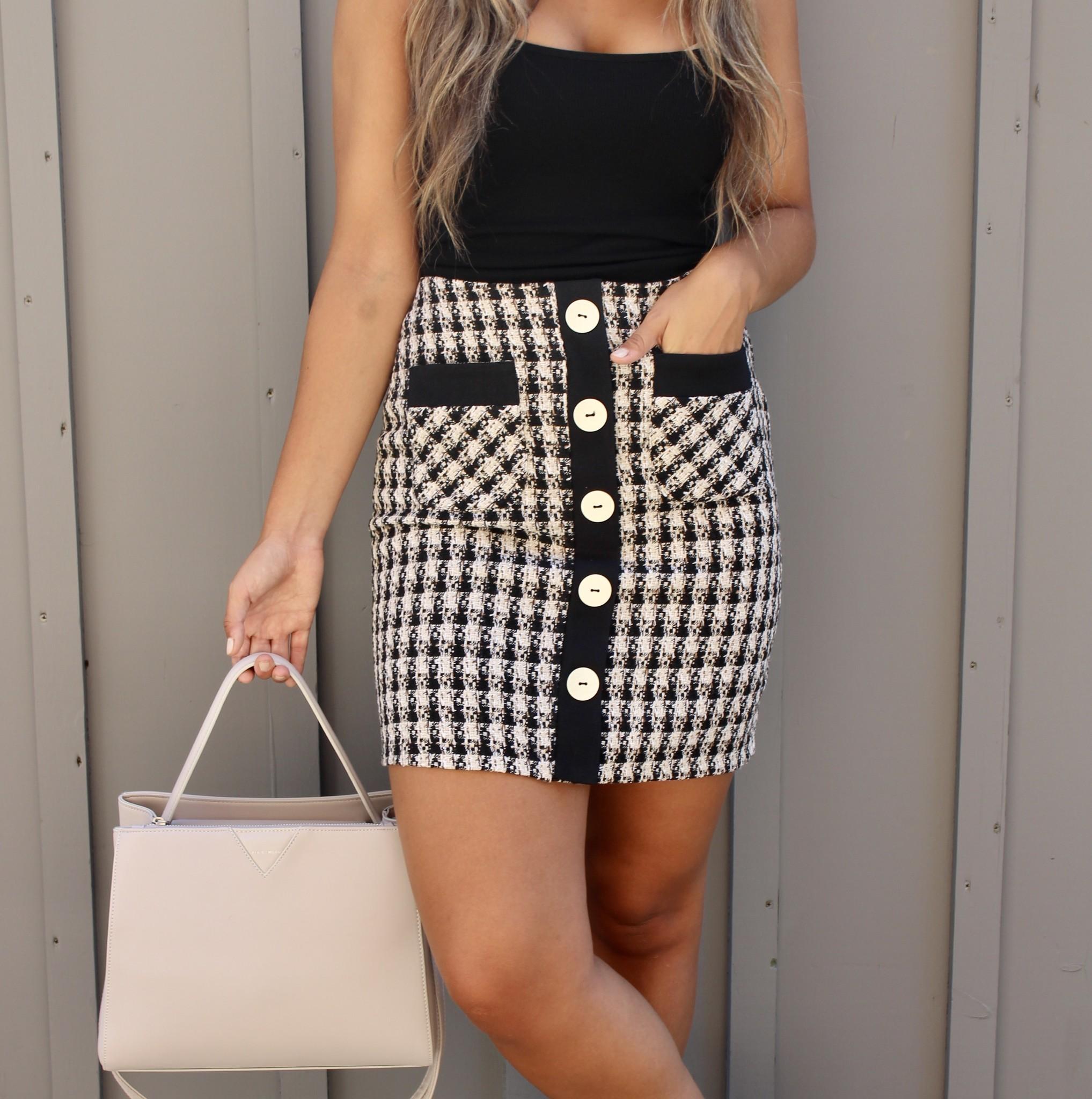 Dex Dex Tweed Skirt