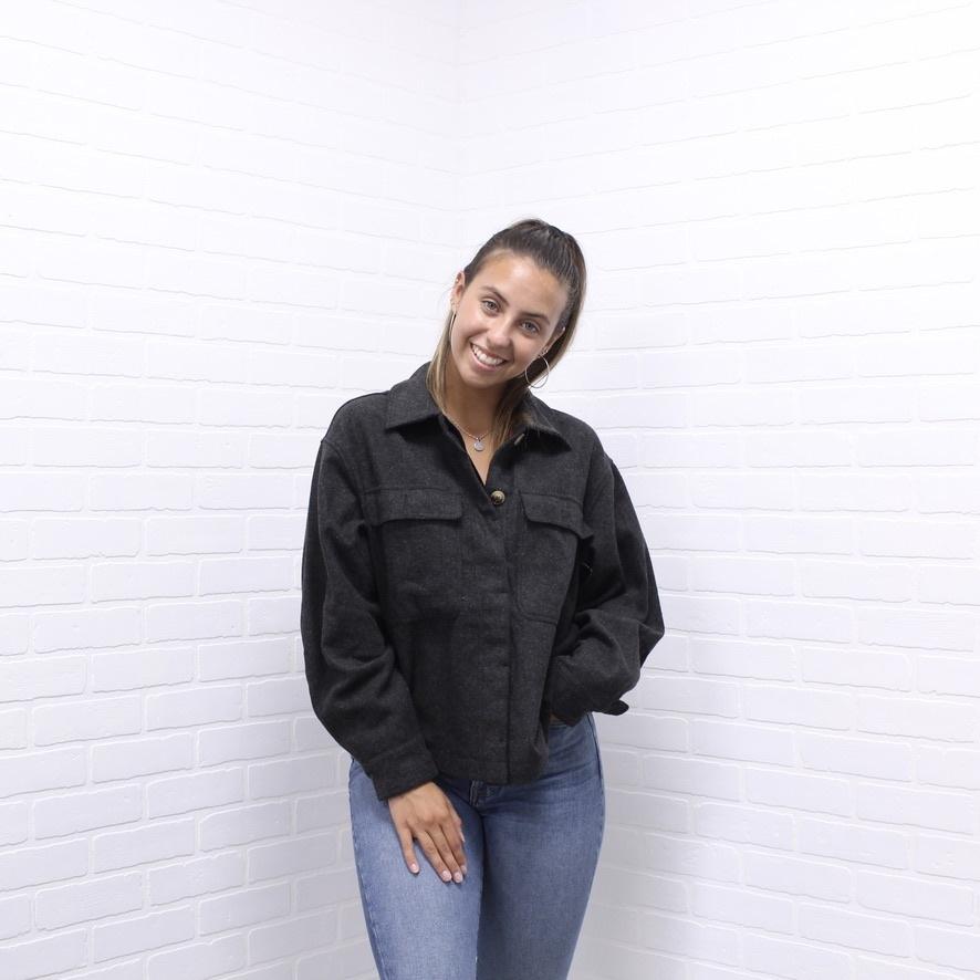 C'est Moi Black Button Up Jacket