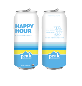 Peak Organic Happy Hour Pilsner 6-Pack Cans