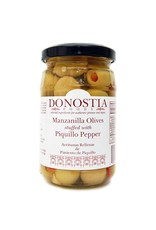 Donostia Foods Manzanilla Olives Stuffed with Piquillo Pepper