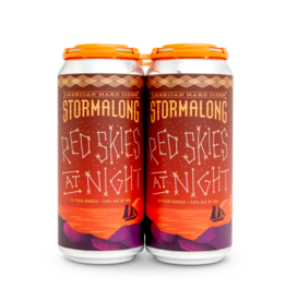 Stormalong Cider 'Red Skies at Night' 4-Pack Cans