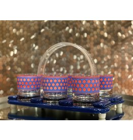 Cera Cocktail Set—Blue with Red Dots