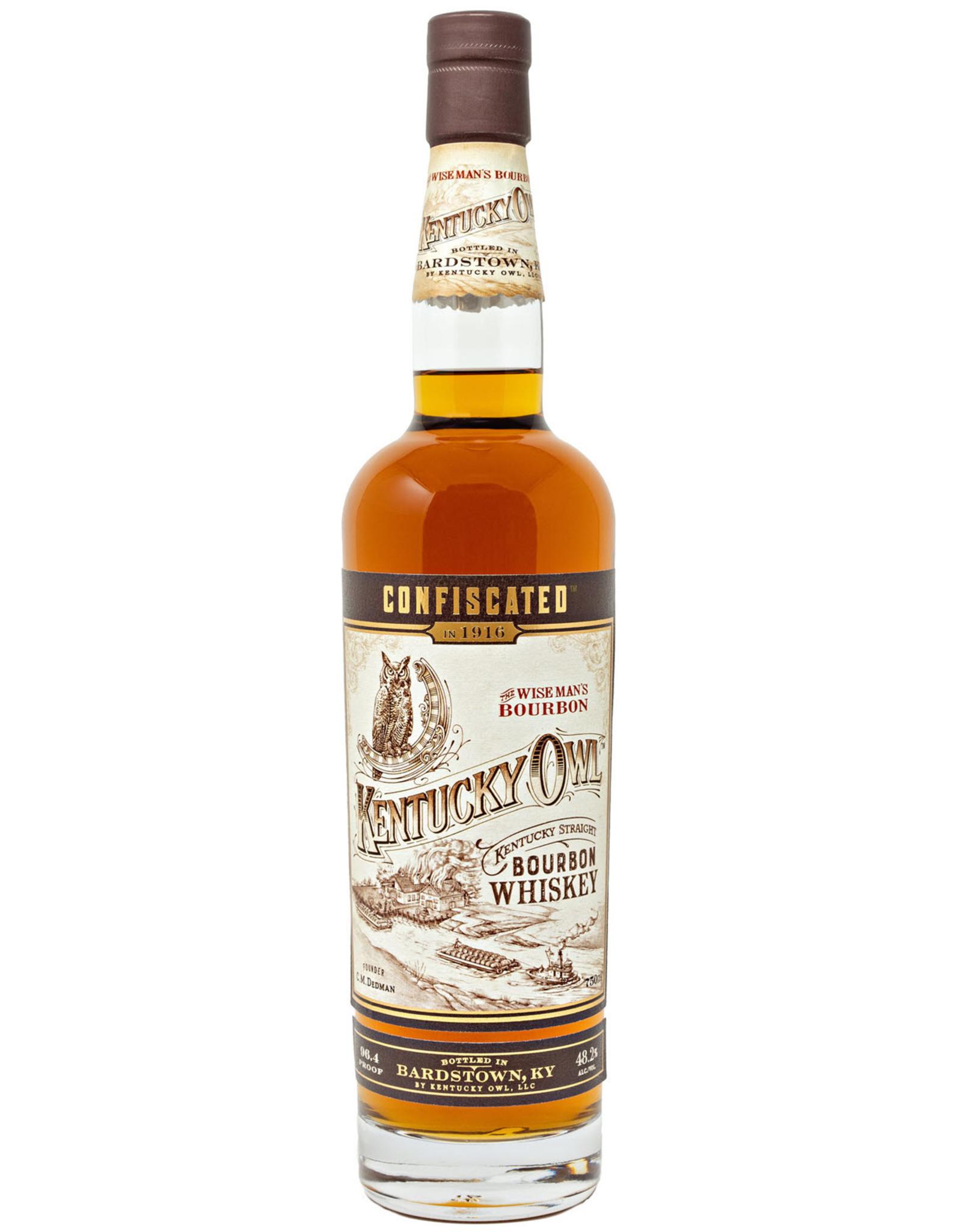 "Kentucky Owl Bourbon Confiscated ""Wiseman's Bourbon"""