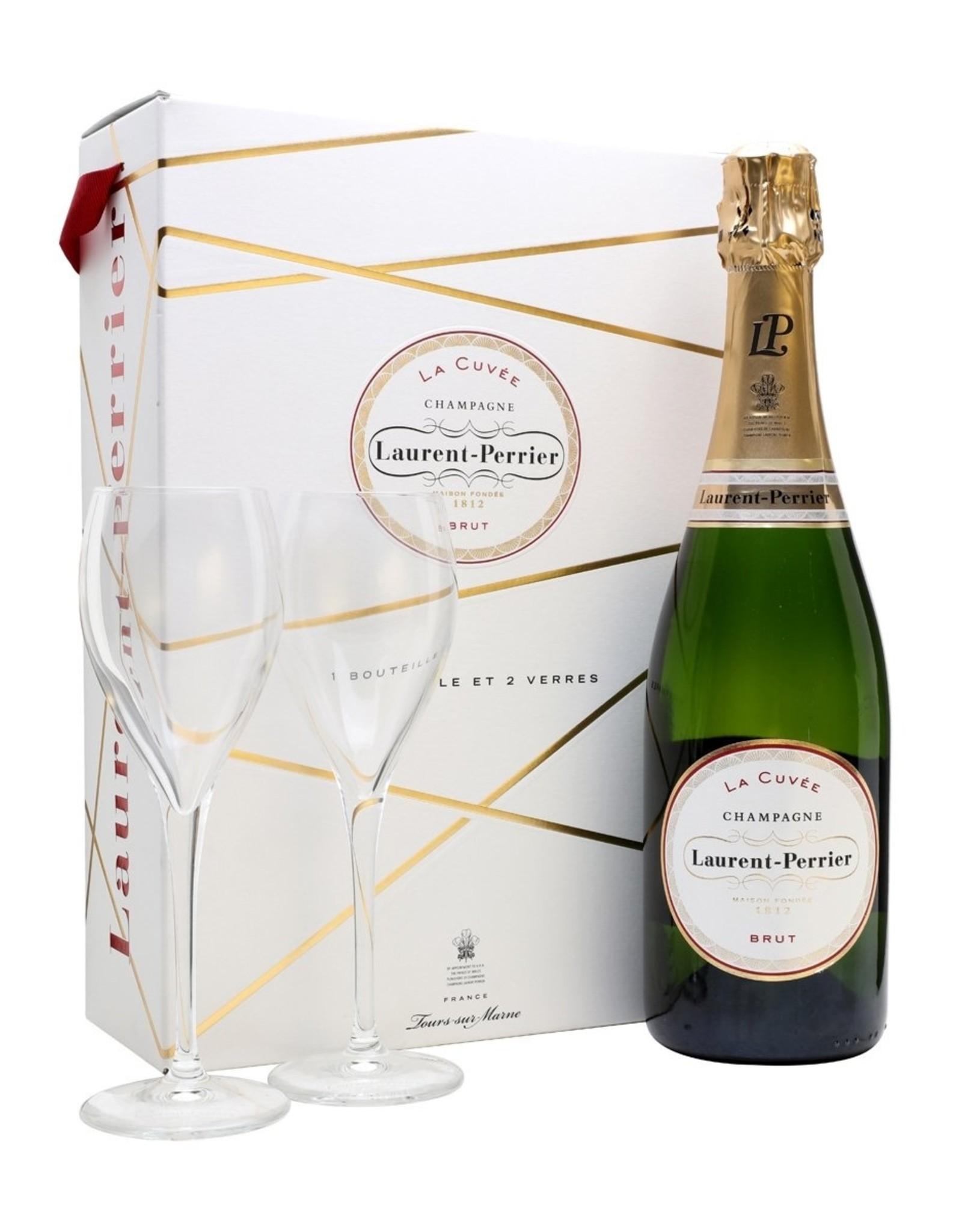 Laurent Perrier Brut Gift Set With Glasses