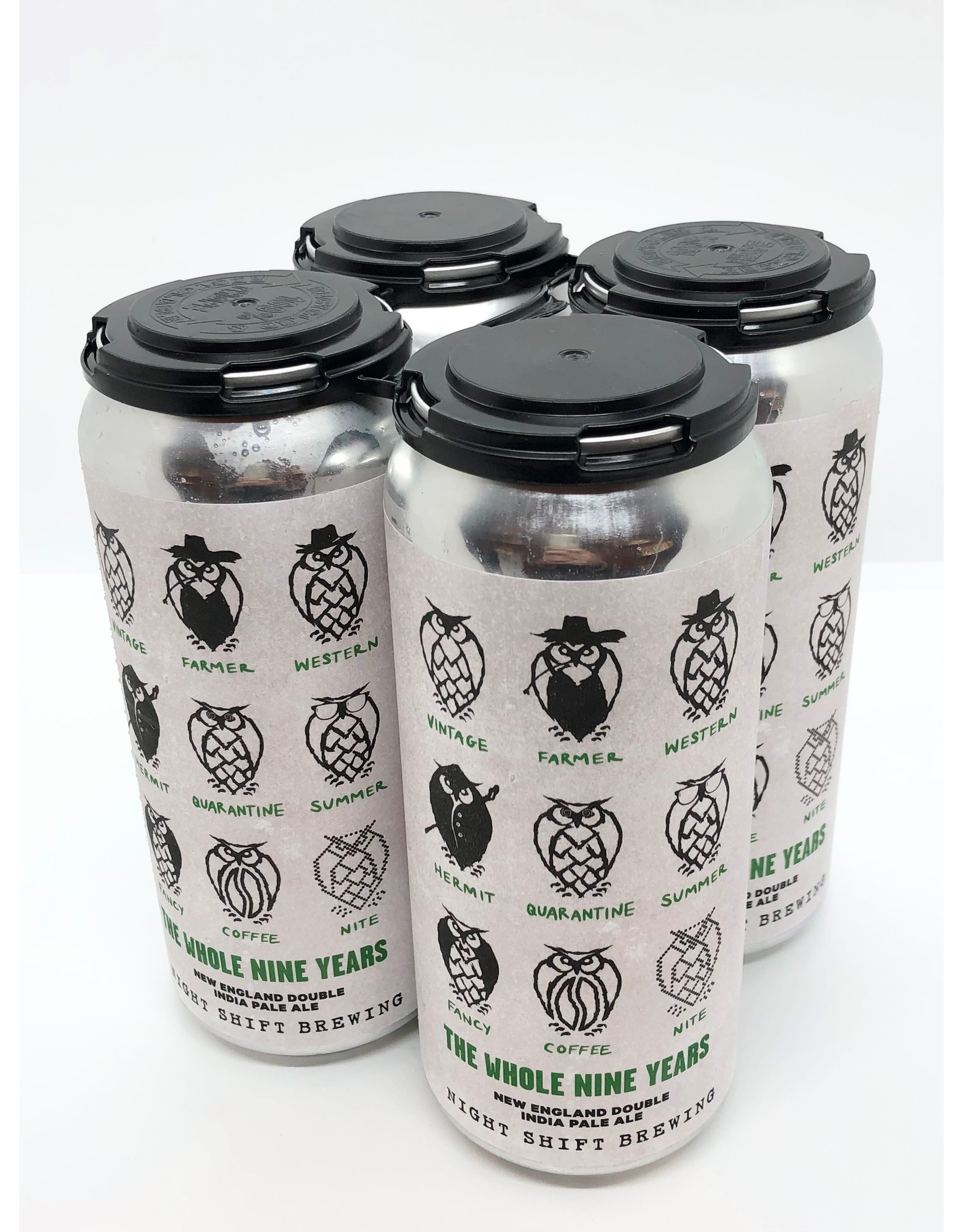 Night Shift The Whole Nine Years Double NEIPA 16oz 4pk Cans