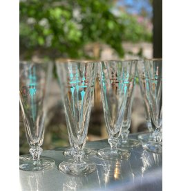Libbey Pilsner Glasses--Abstract Swords