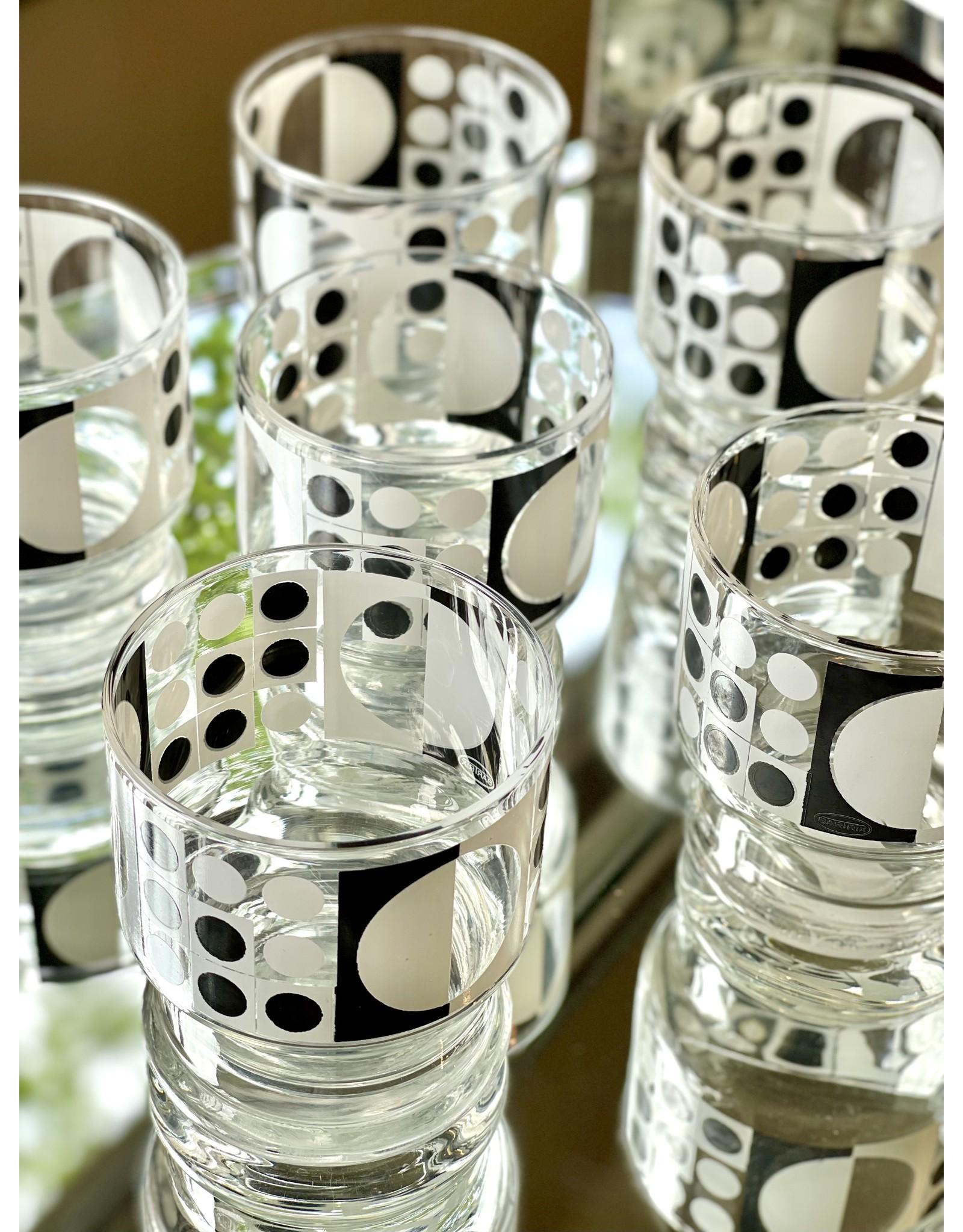 Bartrix Stackable Rocks Black and White Pop Art (Set of 6)