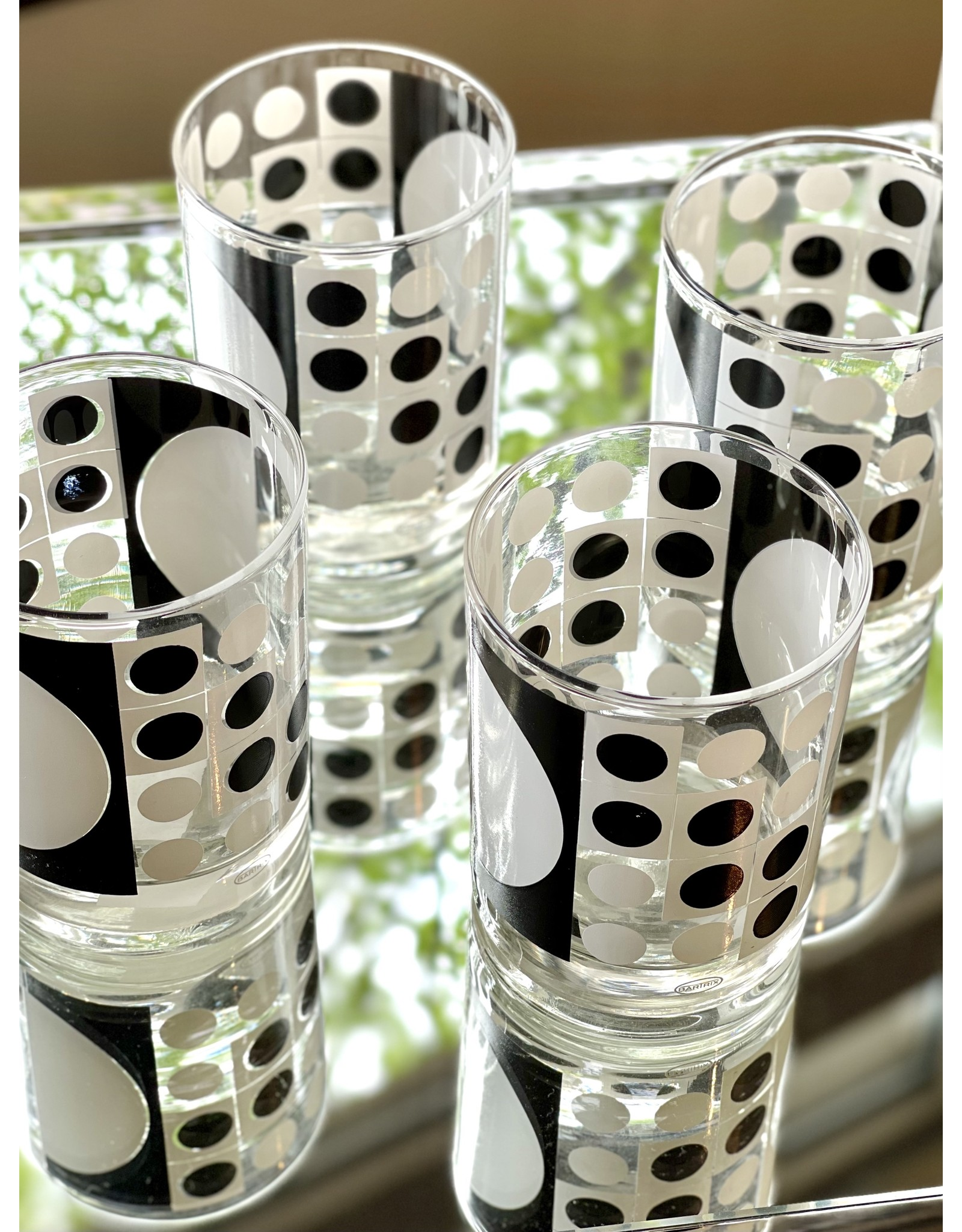 Bartrix Double Rocks Black and White Pop Art (Set of 4)