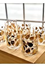 "Georges Briard Rocks ""Gold Leaf"" Pattern (Set of 6)"