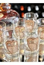George Briard Rocks Glasses 'Large Owl' (Set of 6)