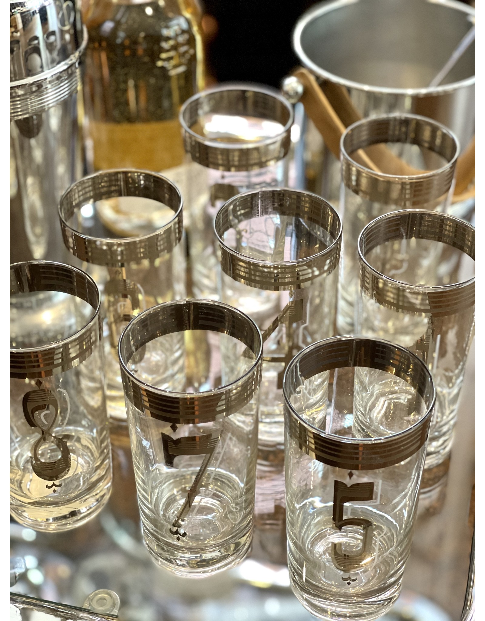 Drinks By The Numbers Highball Glasses (Set of 8)