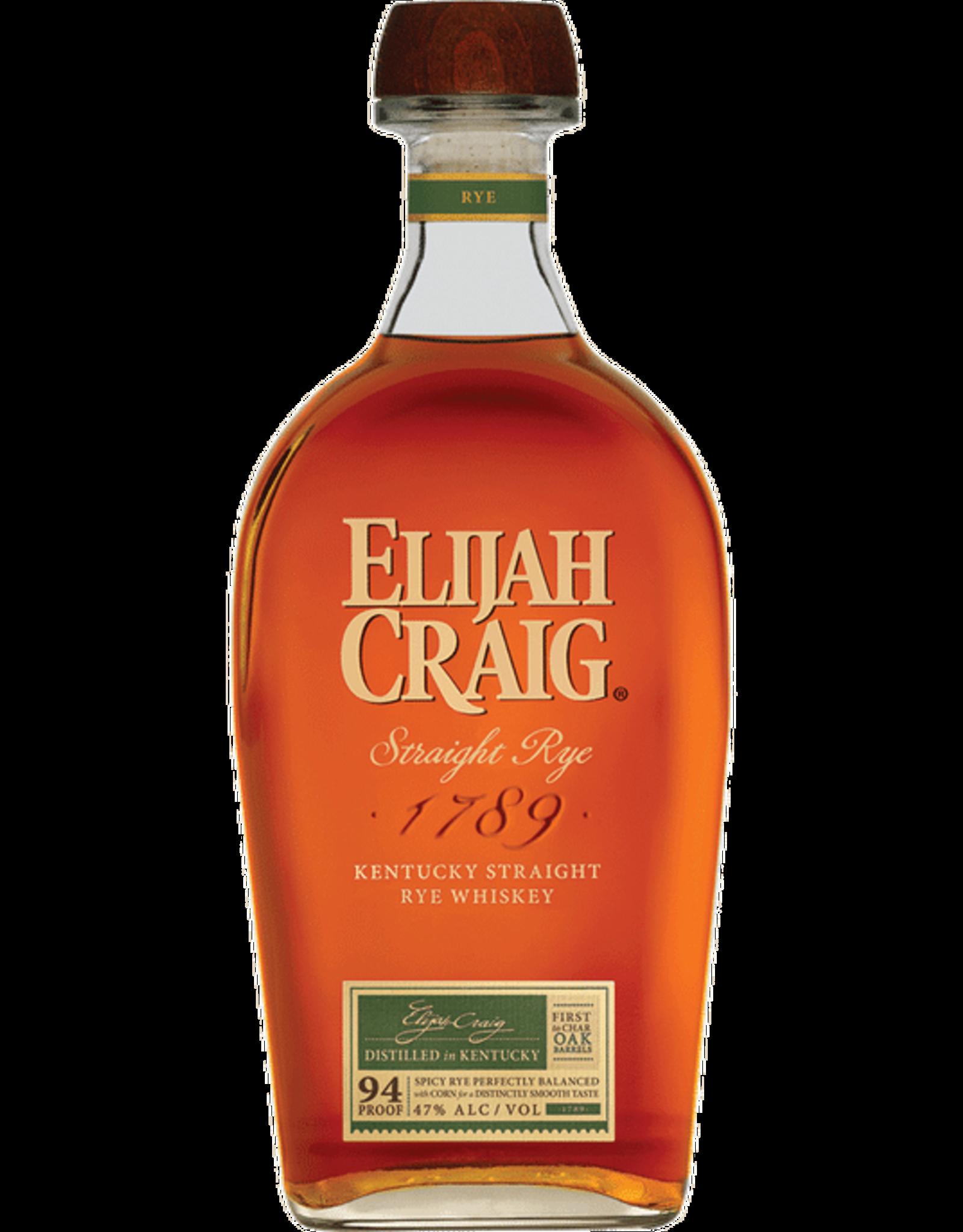 Elijah Craig Straight Rye Whiskey