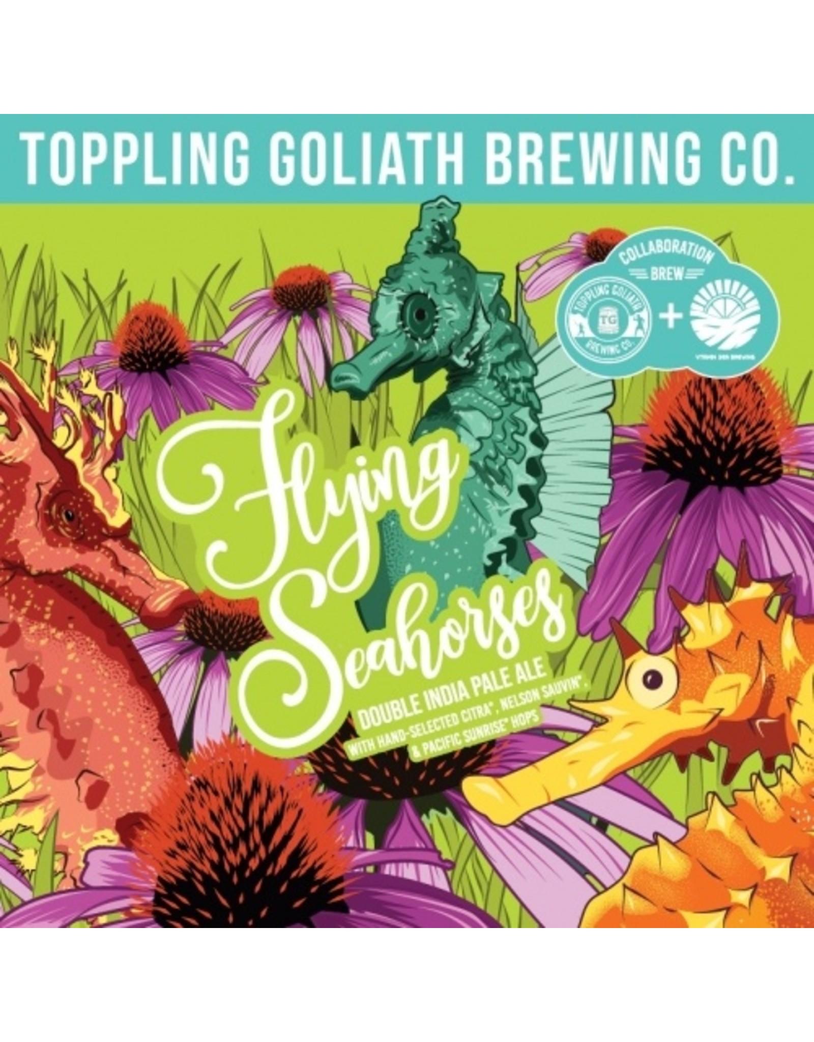 Toppling Goliath & Vitamin Sea 'Flying Seahorses' DIPA 16oz 4pk Cans