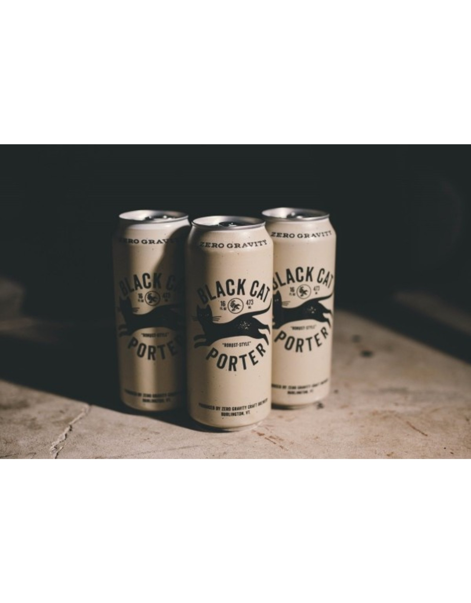 Zero Gravity Black Cat Porter 16oz 4pk Cans