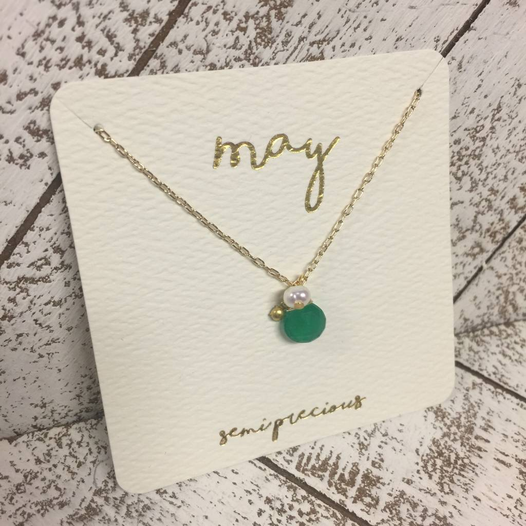 Bonnie Jonas Birthstone Necklace - May/Emerald