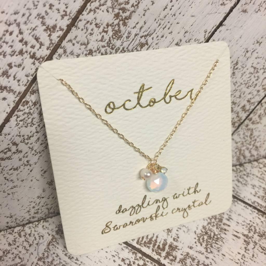 Bonnie Jonas Birthstone Necklace - October/Opal