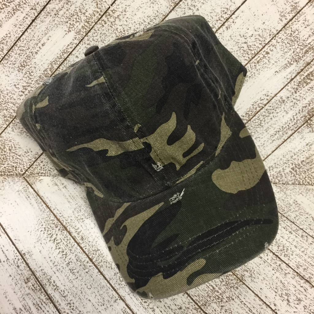 David & Young Distressed Camo - Olive