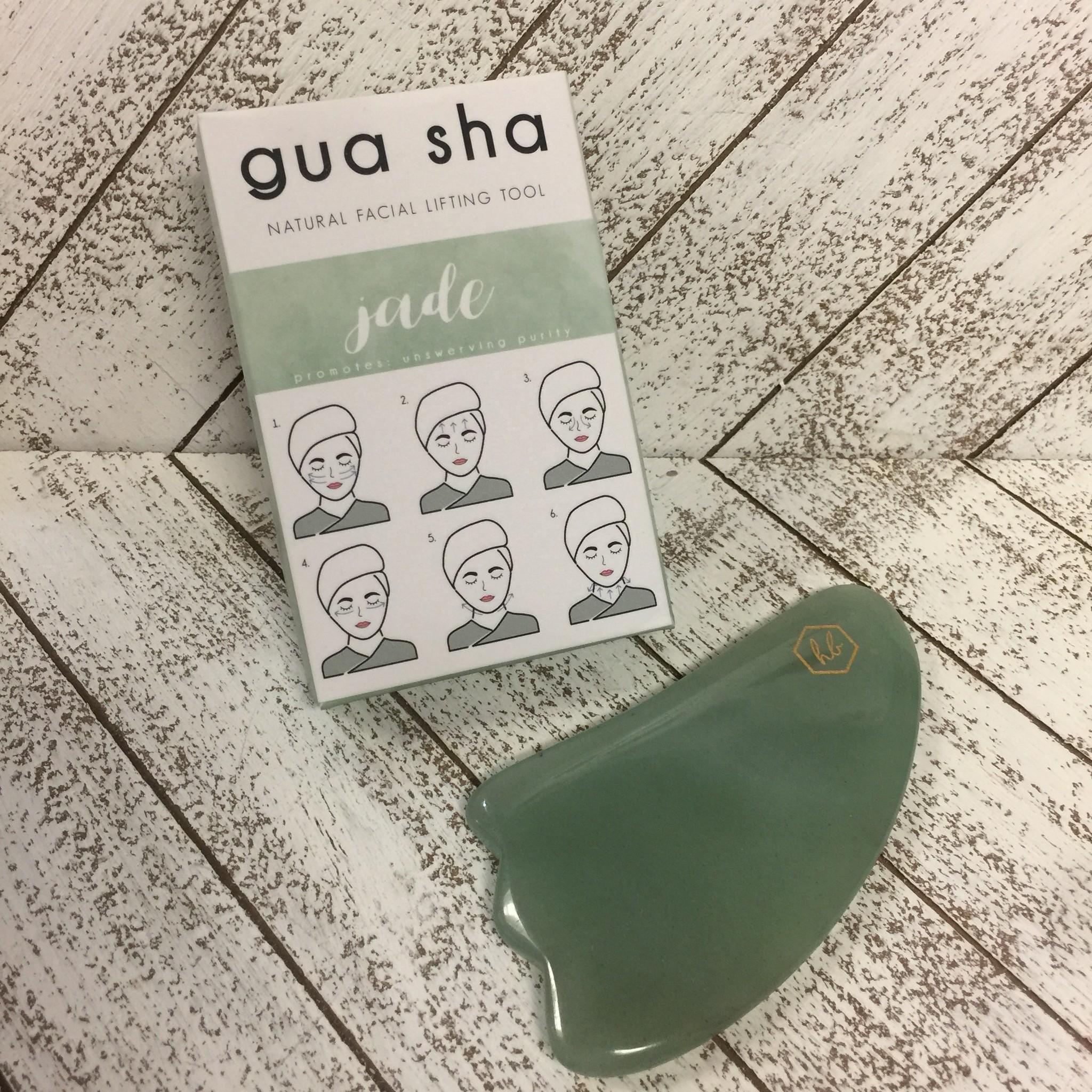 Honey Belle Facial Massage Tool - Jade Gua Sha