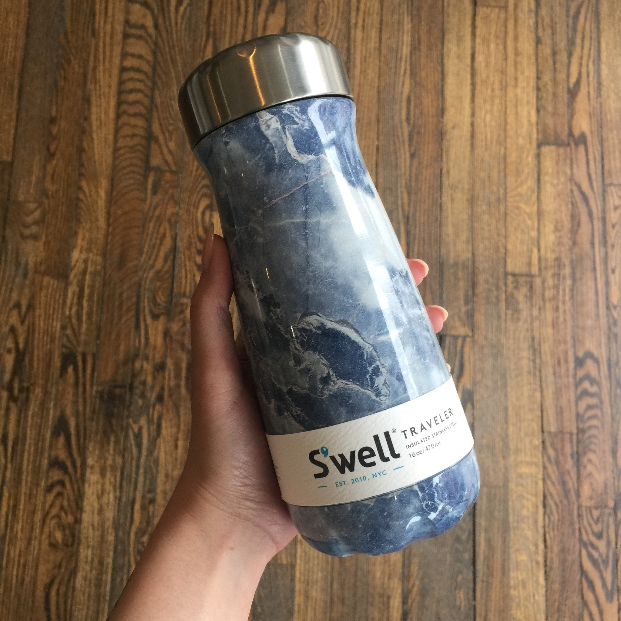 S'well S'well Traveler 16oz - Blue Granite