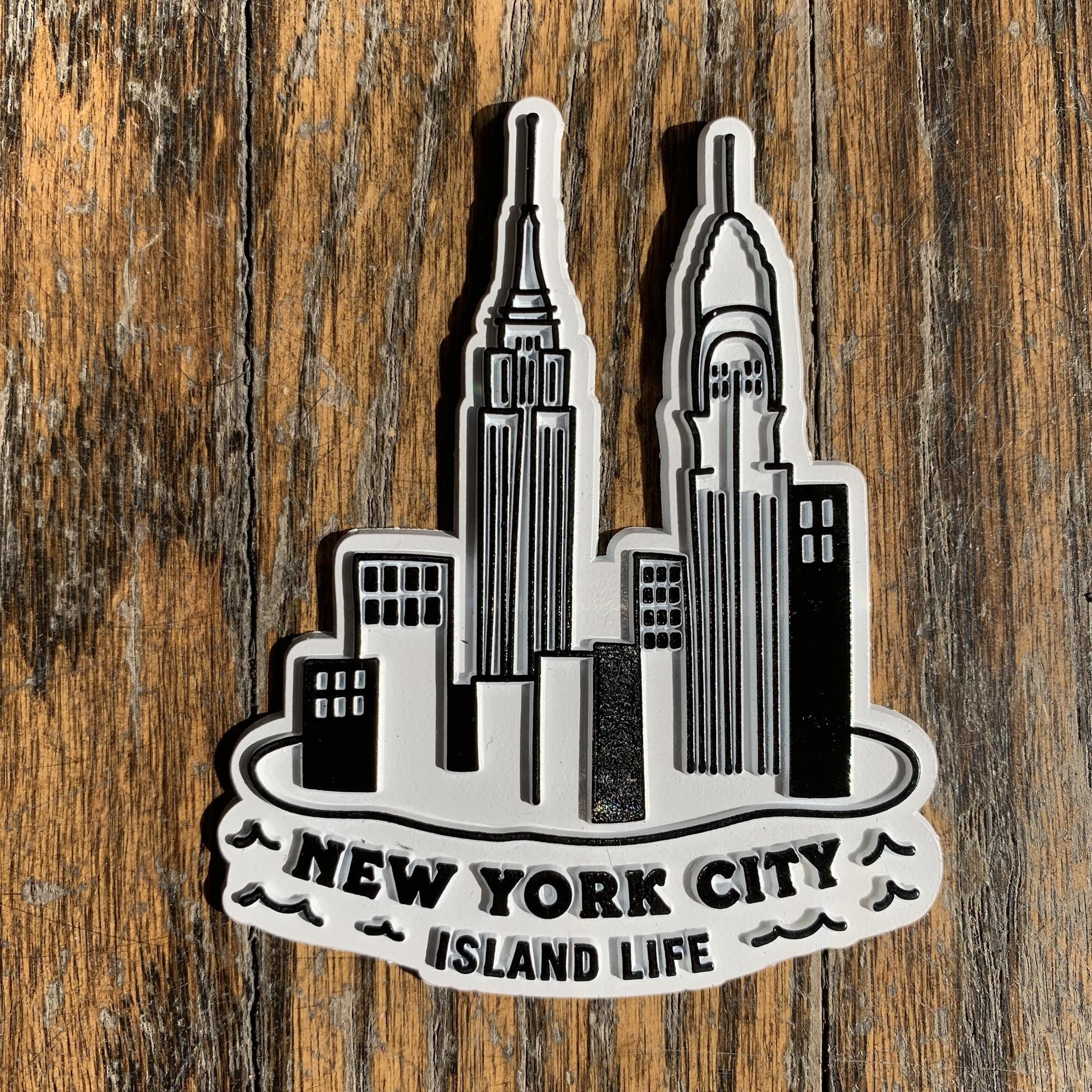 Seltzer Retro Rubber Magnet - NY Island Life