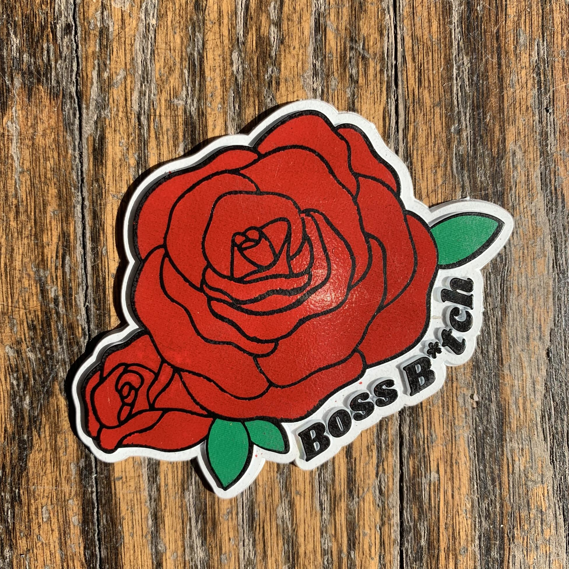 Seltzer Retro Rubber Magnet - Roses
