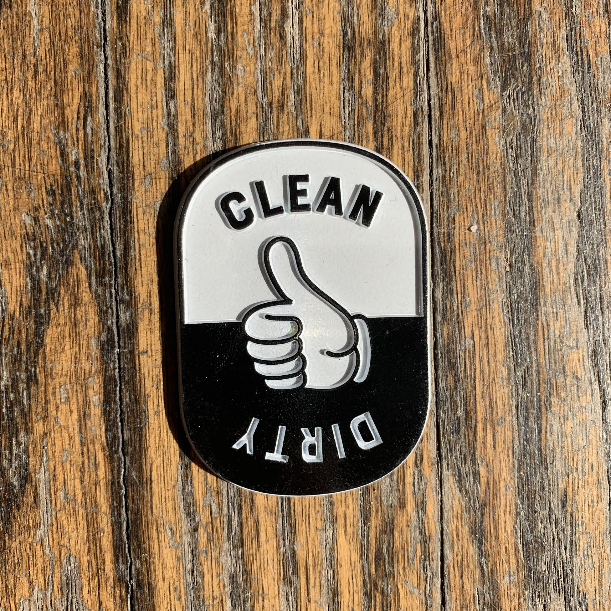 Seltzer Retro Rubber Magnet - Clean/Dirty