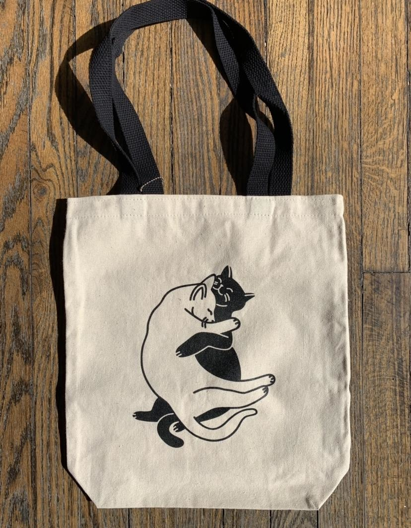 Seltzer Book Tote - Snuggle Cats