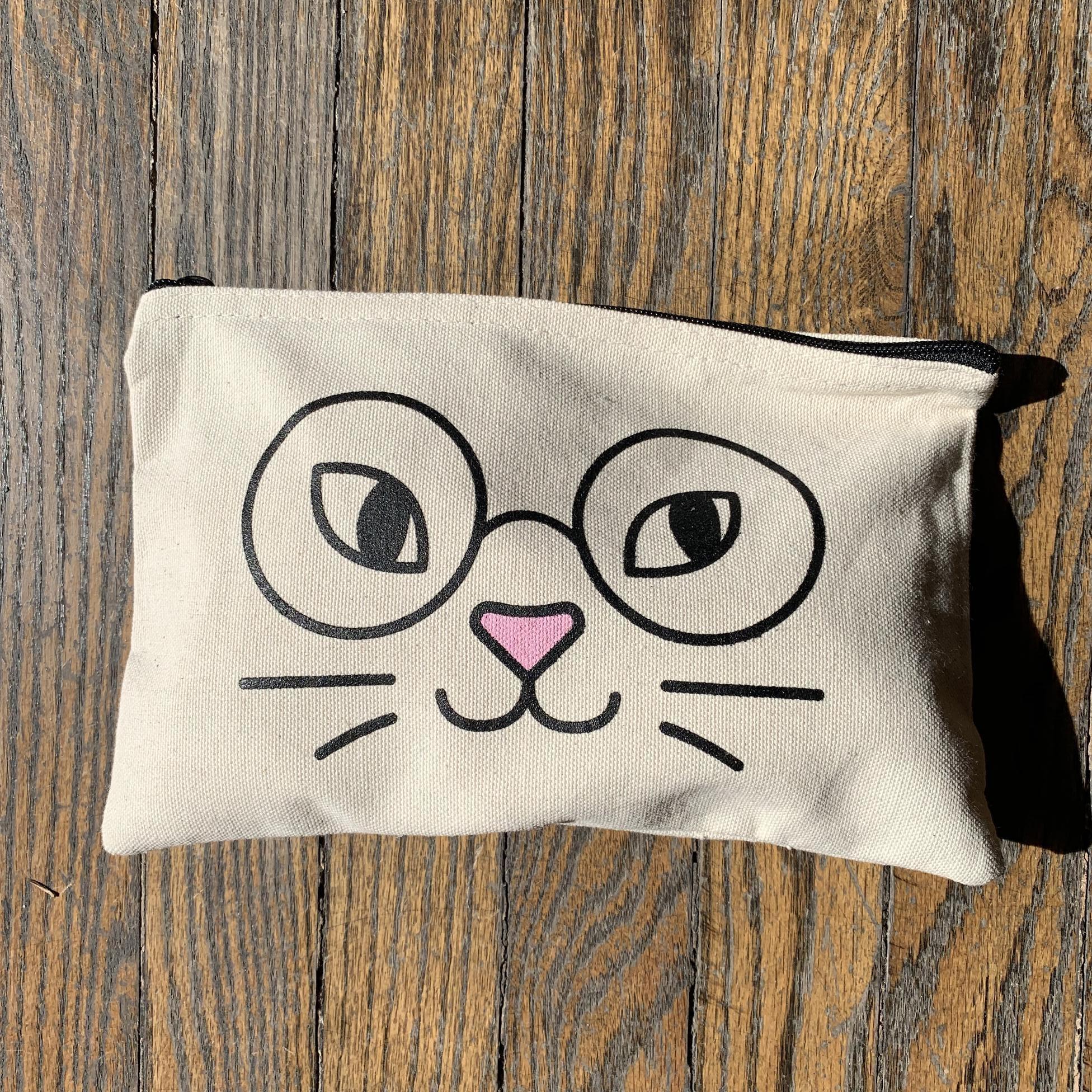 Seltzer Zip Pouch - Cat Glasses
