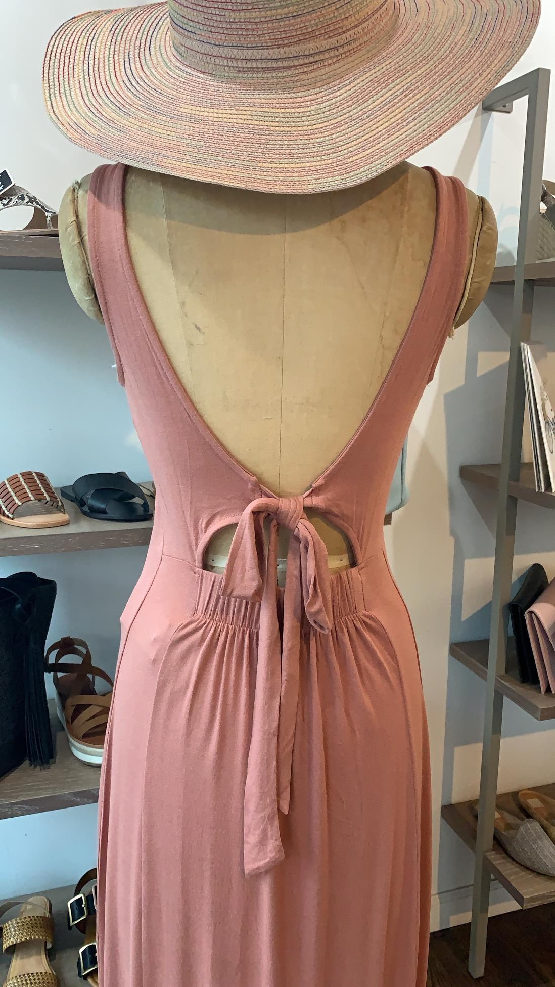 Z Supply Madeline Tie Back Dress - Rose