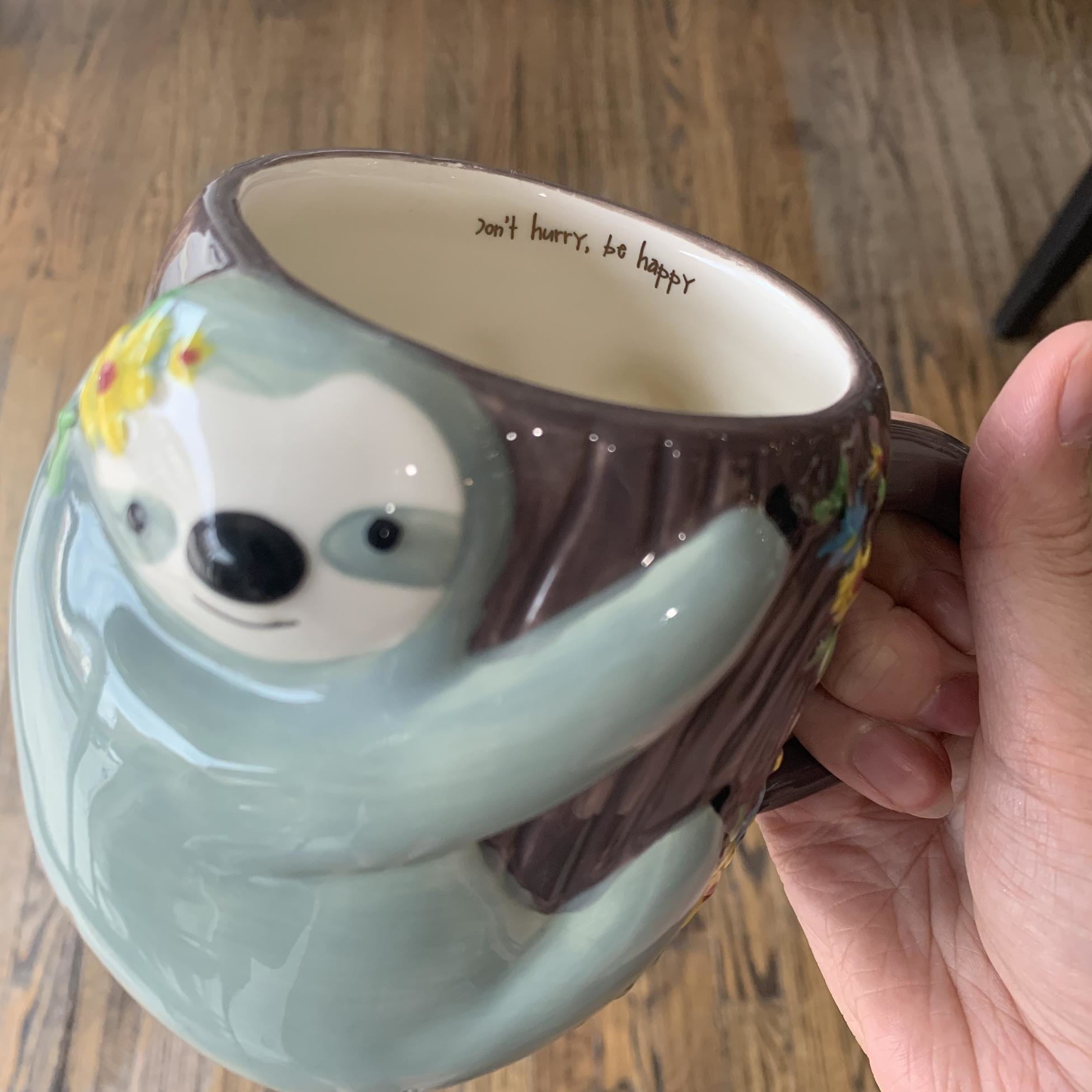Natural Life Mug - Folk Art Sloth