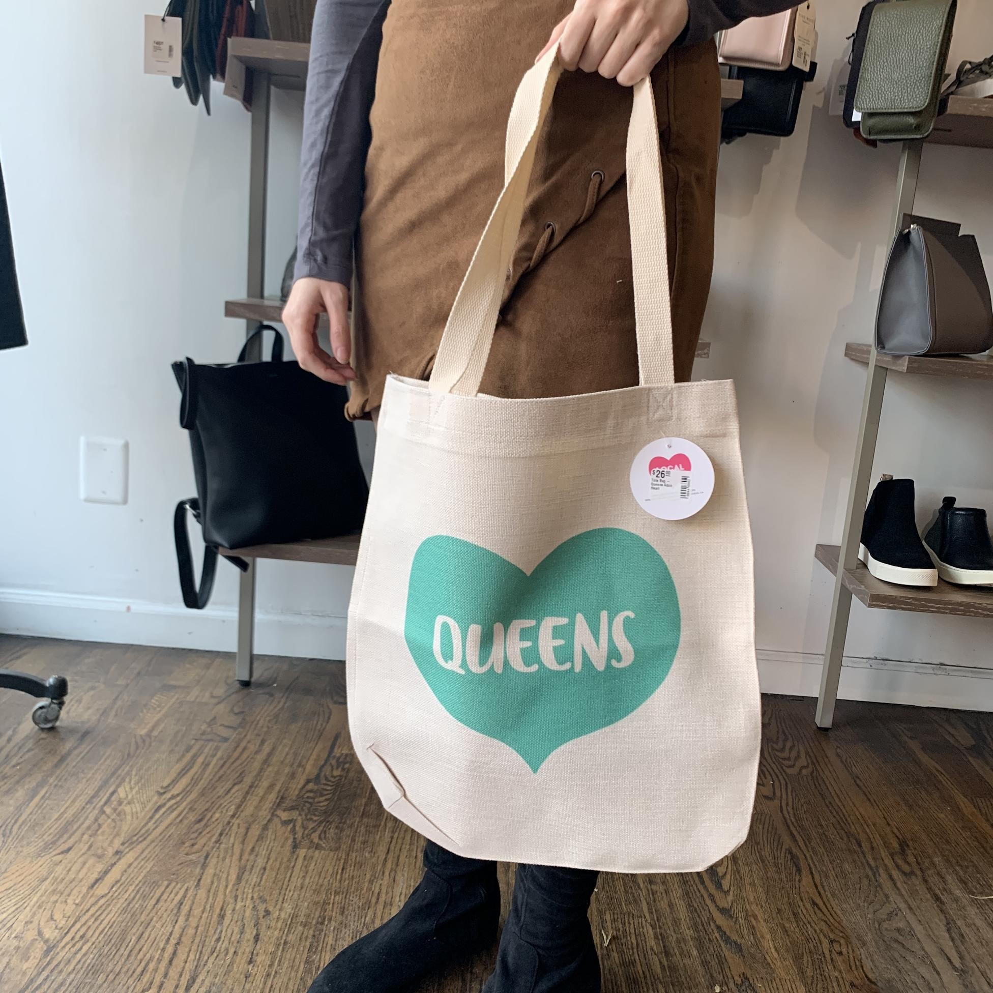 Rock Scissor Paper Tote Bag - Queens Aqua Heart