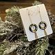 Hooks & Luxe Gold Leaf Earrings-Ring & Tassel- Black