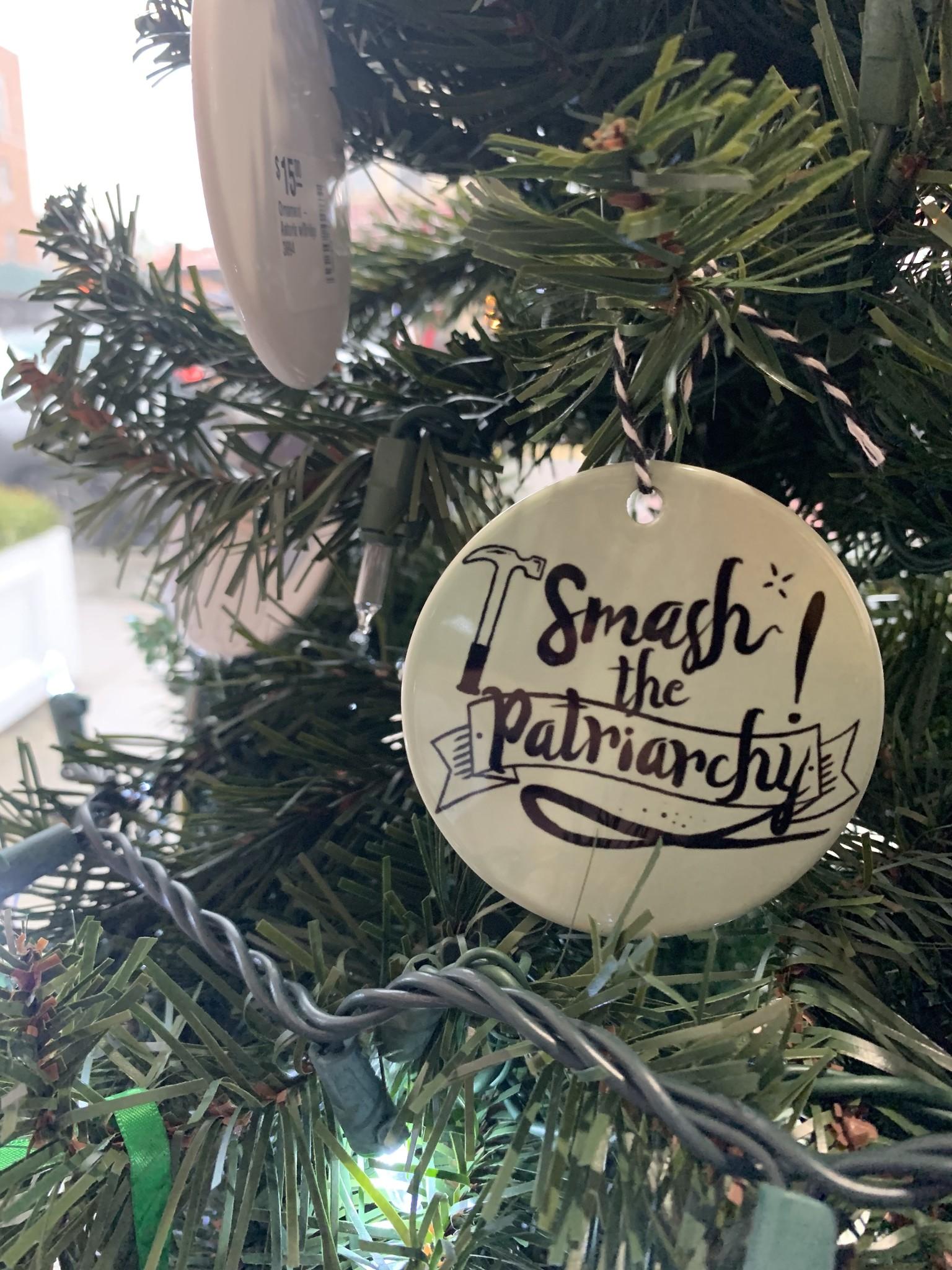 Citizen Ruth Smash The Patriarchy Ornament