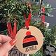 Rock Scissor Paper Wood Ornament-Ski Cap Queens