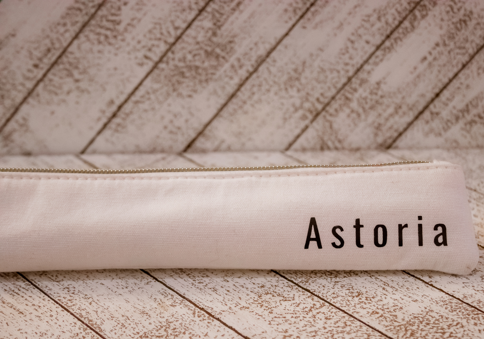 Last Straw Astoria - Straw Set Waterproof Lined Bag - Rose Gold - 6 Pc