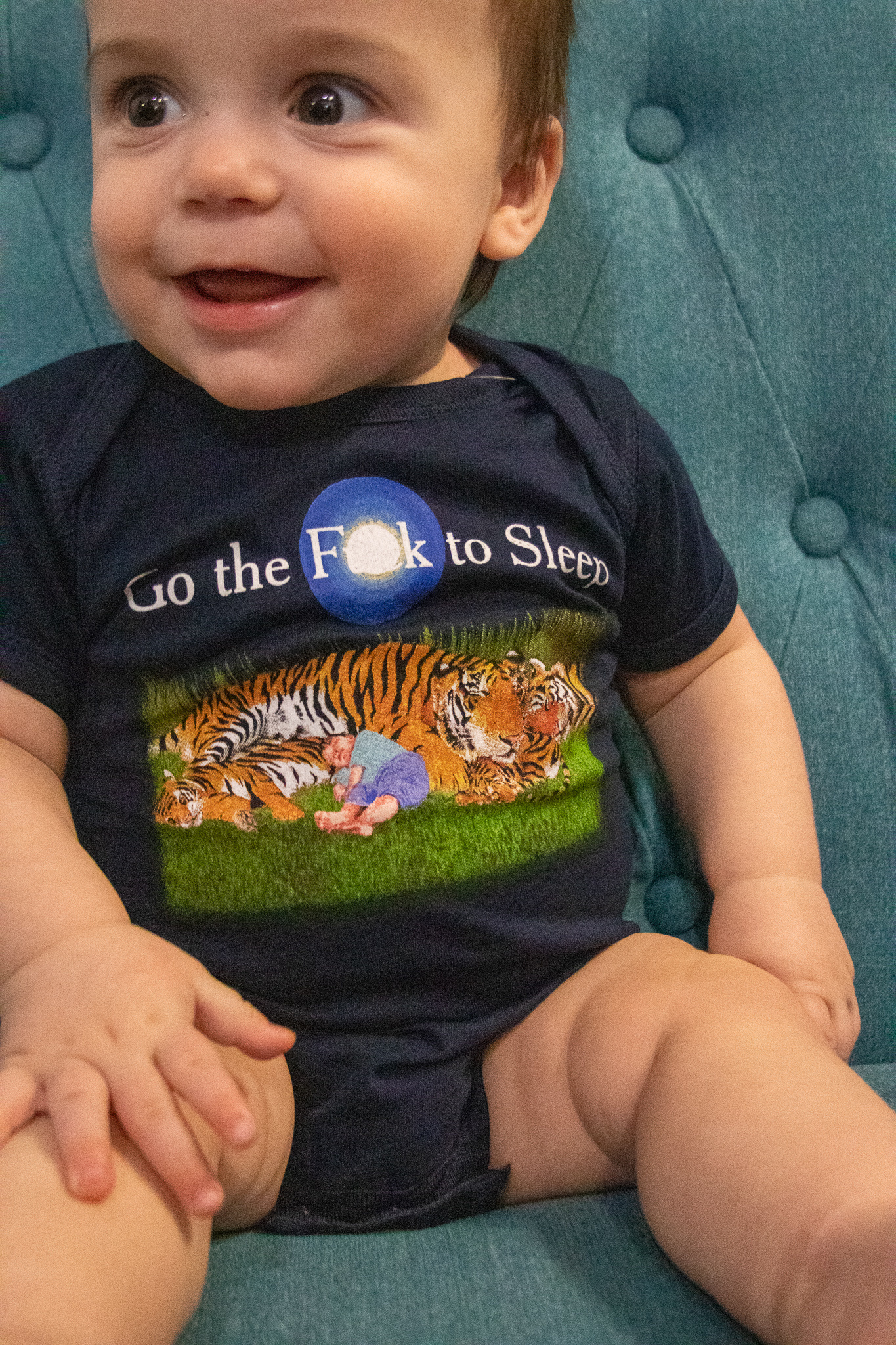 Out of Print Onesie- Go the F to Sleep