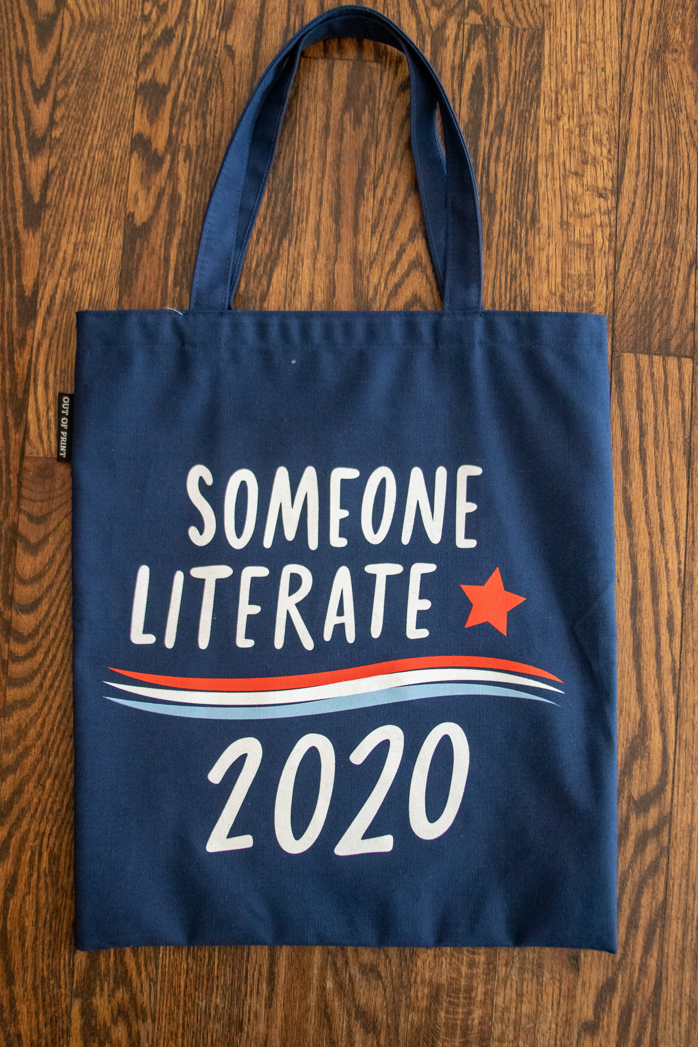 Out of Print Tote- Someone Literate 2020