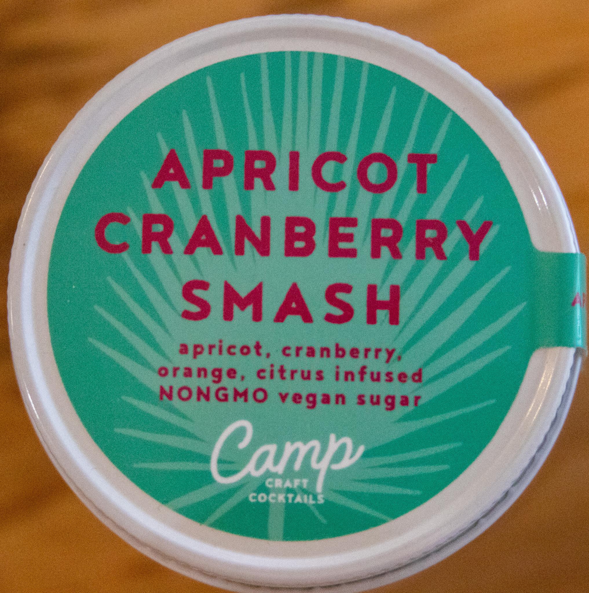Camp Craft Cocktails Apricot Cranberry Smash