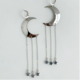 Bou-Cou Silver Moon Earrings