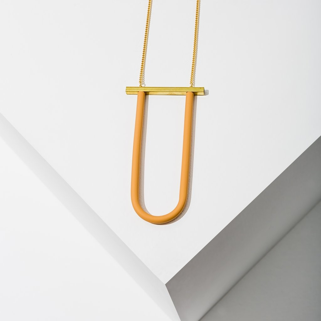 Larissa Loden Bauhaus Necklace - Peach
