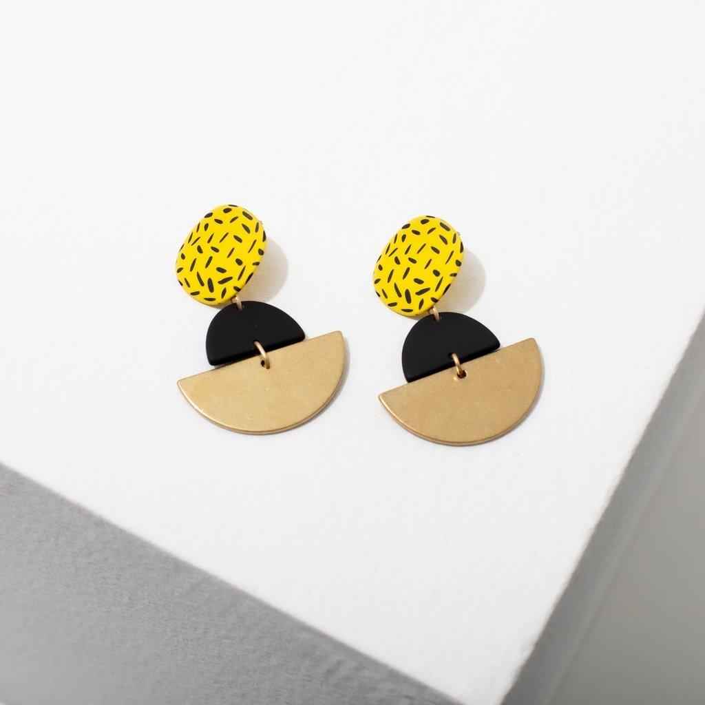 Larissa Loden Kiki Earrings-Yellow
