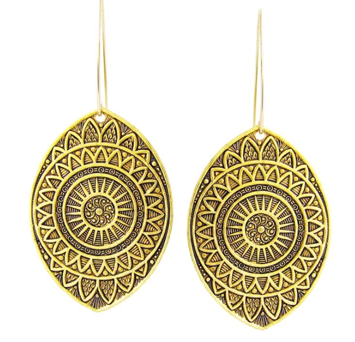 Ornamental Things Eye Medallion Earrings