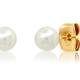 tai Large Pearl Post Earrings