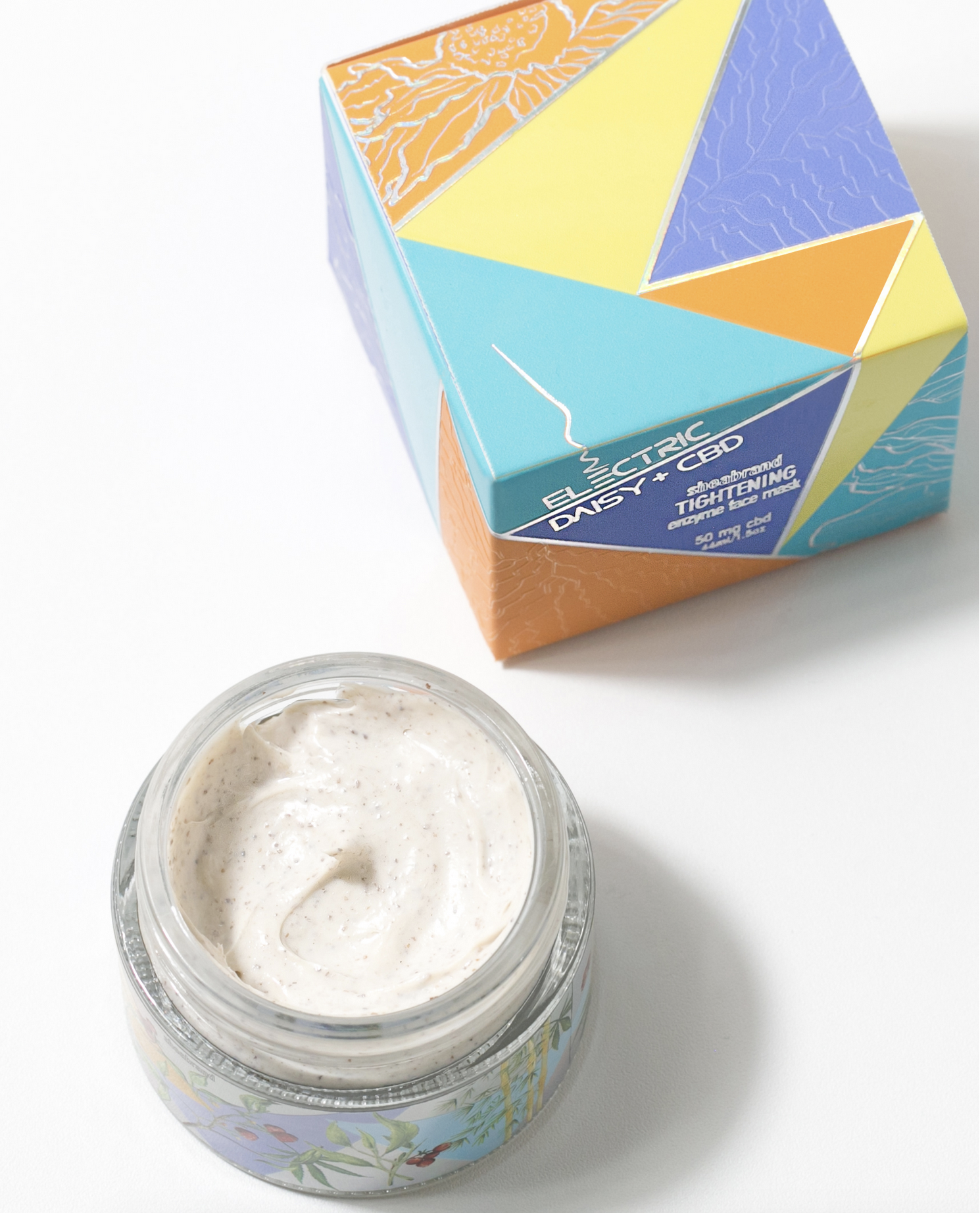 Shea Brand Electric Daisy Face Mask