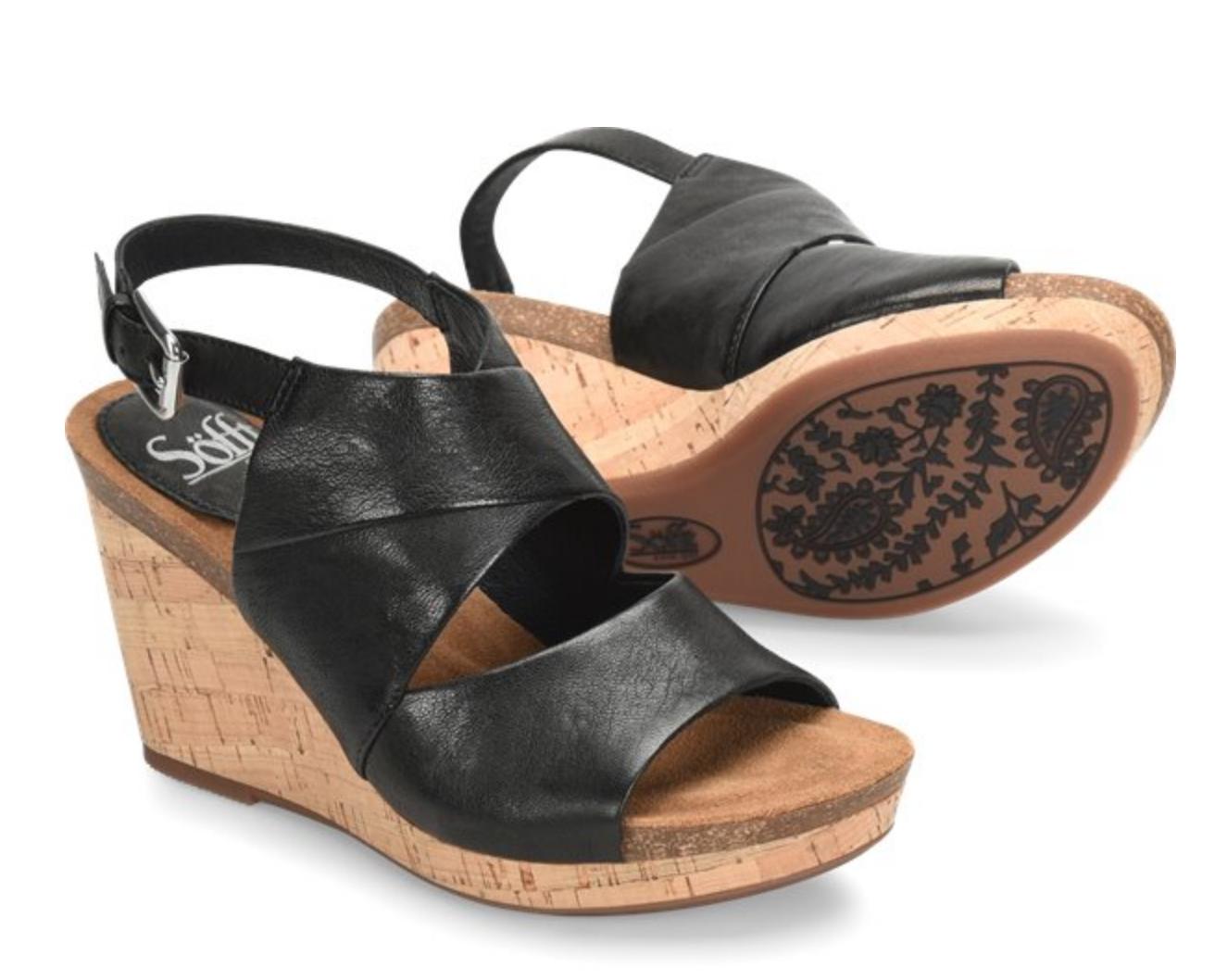 Sofft Shoe Company Corrina Wedge- Black - FINAL SALE