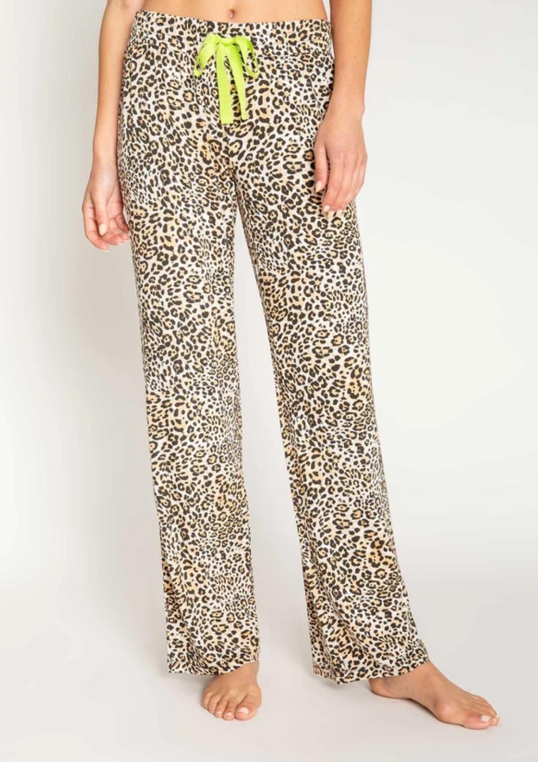 PJ Salvage Neon Leopard Pant - FINAL SALE