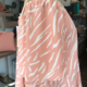 All In Favor Off Shoulder Printed Top -  Peach/Cream - FINAL SALE